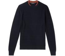 Slim-Fit Textured-Wool Sweater