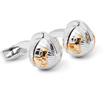 Silver, Gold and Rhodium-Plated Cufflinks