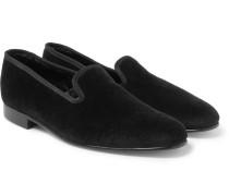 Albert Velvet Slippers - Black