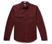 Slim-Fit Gingham Cotton Overshirt