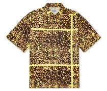 Noise Oversized Shell-Appliquéd Printed Cotton Shirt
