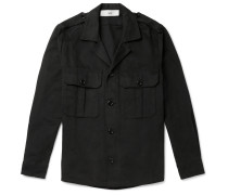 Jack Camp-Collar Denim Overshirt