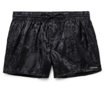Short-Length Jacquard Swim Shorts