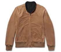 Reversible Suede And Nylon Blouson Jacket