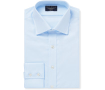 Light-Blue Slim-Fit Cotton-Piqué Oxford Shirt