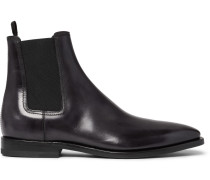 Leather Chelsea Boots - Black