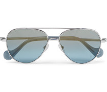 Aviator-style Palladium-plated Sunglasses