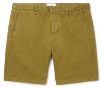 Slim-fit Cotton-twill Bermuda Shorts - Green