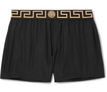 Slim-fit Short-length Swim Shorts - Black