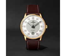 Meister Driver Automatic 38mm Gold-Tone Stainless Steel and Leather Watch, Ref. No. 027/7710.00