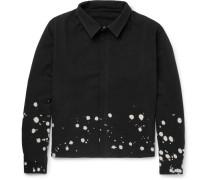 Bleach-splattered Cotton-canvas Jacket - Black