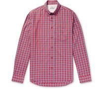 Isherwood Button-down Collar Checked Cotton Shirt