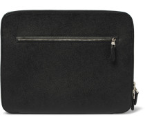 Cadogan Full-grain Leather Zip-around Pouch - Black