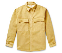 Padded Faux Suede Overshirt