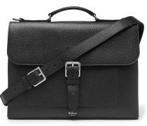 Chiltern Pebble-grain Leather Briefcase - Black