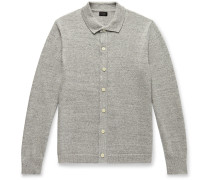 Mélange Cotton and Wool-Blend Cardigan
