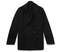 Double-breasted Cashmere Peacoat - Midnight blue