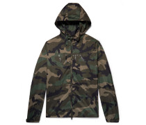 Camouflage-print Shell Hooded Jacket - Army green