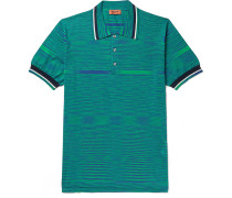 Space-Dyed Knitted Cotton Polo Shirt