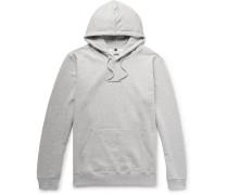 Barrow Logo Print Melange Fleece-back Cotton-jersey Hoodie