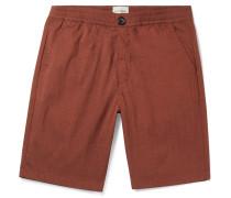 Organic Cotton-Blend Seersucker Shorts