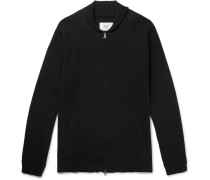 Milano Shawl-collar Cotton And Wool-blend Zip-up Cardigan