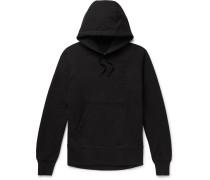 Loopback Cotton-jersey Hoodie - Black