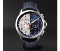 Limited Edition Clifton Club Shelby Cobra Automatic 44mm Stainless Steel And Leather Watch - Storm blue