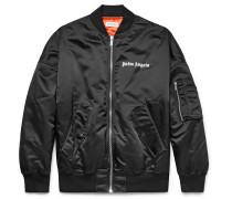 Logo-print Shell Bomber Jacket