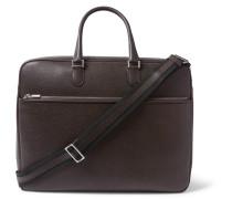 Pebble-grain Leather Briefcase