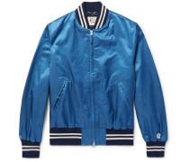 Cotton-blend Satin Bomber Jacket