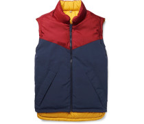 Reversible Canvas And Quilted Shell Down Gilet