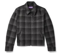 Richland Checked Wool Blouson Jacket