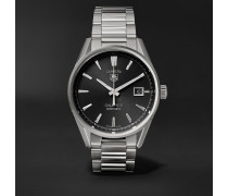 Carrera Automatic 39mm Steel Watch - Black