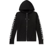 Oversized Logo-Print Loopback Cotton-Jersey Zip-Up Hoodie