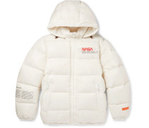 + NASA Slim-Fit Printed Quilted Nylon-Ripstop Hooded Down Jacket