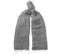 Sinti Mélange Linen And Cotton-blend Scarf
