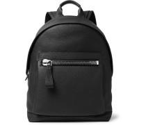 Buckley Pebble-grain Leather Backpack - Black