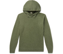 Brushed-Cashmere Hoodie