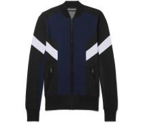 Slim-fit Colour-block Tech-jersey Track Jacket