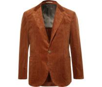 Brick Slim-fit Unstructured Sea Island Cotton-corduroy Suit Jacket