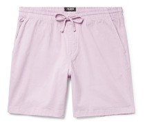 Weekend Garment-Dyed Stretch Cotton-Blend Twill Drawstring Shorts