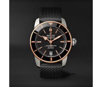 Superocean Héritage Ii B20 Automatic 42mm Stainless Steel, Red Gold And Rubber Watch