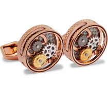 Gear Rose Gold-plated Cufflinks - Rose gold