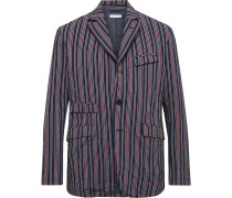 Andover Striped Cotton-Blend Seersucker Suit Jacket