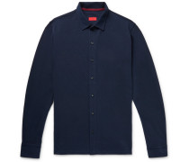 Cotton-piqué Shirt - Navy