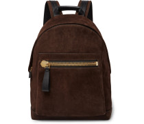 Buckley Leather-panelled Suede Backpack
