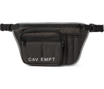 Reflective-trimmed Shell Belt Bag - Black