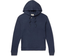 Ribbed Cotton-jersey Hoodie - Navy