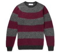 Striped Brushed Virgin Wool Sweater